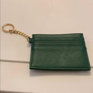 Green small wallet